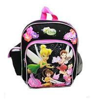 "Mini Backpack Disney Tinkerbell Fairy Black 10"" 601805"