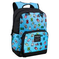 """Backpack Minecraft Bobble Mobs 17"""" Blue j9523"""