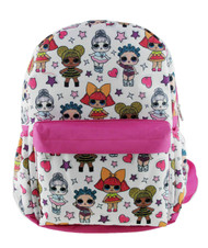 "Backpack L.O.L. Surprise All Over Print White 16""  001902-2"