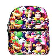 "Medium Backpack Super Mario Bros 3D All-Over Print 14"" NN43899"