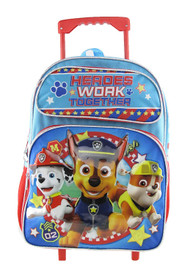Large Rolling Backpack Paw Patrol Heroes Work Together 004682