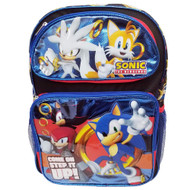 "Backpack Sonic the Hedgehog Come On Step It UP 16"" 202099"