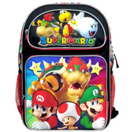 "Backpack Super Mario Bros Super Bowser 16"" NN43718"