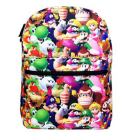 "Backpack Super Mario Bros 3D All-Over Print 16"" NN43719"