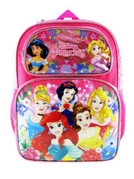 "Backpack Disney Princess Pretty Princess Pink 16"" 009199"