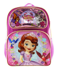"Backpack Sofia The First Sweet & Kind Pink 16"" 008529"