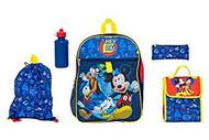 Backpack Mickey Mouse Hey Pal Blue 5 Pcs Set 35099