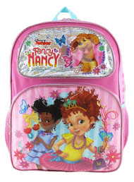 "Backpack Fancy Nancy Pretty Butterfly 16"" Pink 004664"