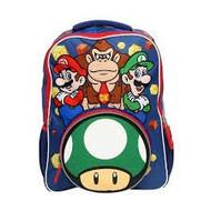 """Backpack Super Mario Luigi & Donkey Kong 16"""" 191140"""