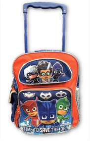 "Small Rolling Backpack PJ Masks Time To Save The Day 12"" 185750-2"