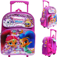 """Small Rolling Backpack Shimmer and Shine Tala & Nahal 12"""" 004743-2"""