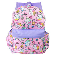 "Backpack Unicorn Pink All Over Prints 16"" 003401"