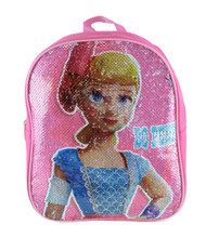 "Small Backpack Toys Story 4 Bo Peep Reverse Sequin 12"" 005210"