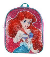 "Small Backpack The Little Mermaid Ariel Reverse Sequin 12"" 005180"