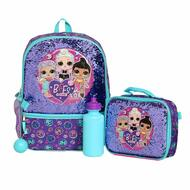 """Backpack L.O.L. Surprise Shiny Purple 16"""" w/ Lunch Bag 199504"""