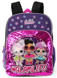 """Backpack L.O.L. Surprise Glamlife Pink 16"""" 189697"""