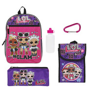 "Backpack L.O.L. Surprise Purple Set of 5 16"" 212348-2"