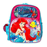 """Small Backpack Disney Ariel The LIttle Mermaid 3D Pop Out 12"""" 000758"""