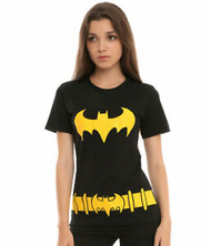T-Shirt DC Comics Batman Batgirl Costume Juniors Large
