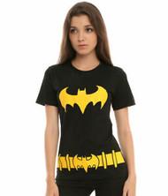 T-Shirt DC Comics Batman Batgirl Costume Juniors Large