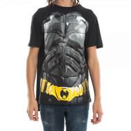 T-Shirt Batman The Dark Knight Rises w/Removable Cape Men Small