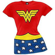 T-Shirt DC Comics Wonder Women Classic Red Costume Juniors Large