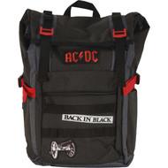 Backpack AC/DC Black Roll-Top 18' BP00359ACDU