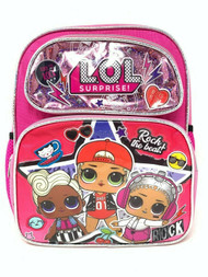 "Small Backpack L.O.L. Surprise Hip Hop Shiny Pink 12"" 008857"