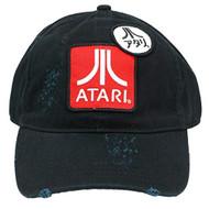 Baseball Cap ATARI Lo Profile Black Strapback Hat BA185742ATA