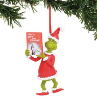 Ornament Dr. Seuss Grinch with Book 6011002