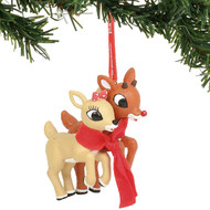 "Ornament Enesco Rudolph and Clarice 3.5"" 6004002"
