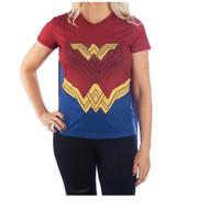 T-Shirt DC Comics Wonder Women w/Cape Costume Tee Juniors Large