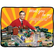 Blanket Mister Rogers Wont You Be My Neighbor cfbf-mr-town