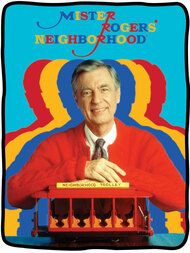 Blanket Mister Rogers Neighborhood Throw Fleece cfbf-mr-colors