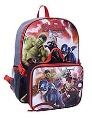 Backpack Marvel Avengers Age of Ultron w/Lunch Bag 395161 395161