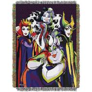 Woven Tapestry Throws Villains Villainous Group 103389