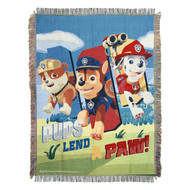 Woven Tapestry Throws Paw Patrol Lend A Paw 024967