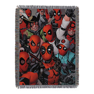 Woven Tapestry Throws Dead Pool We Are All Here 024127