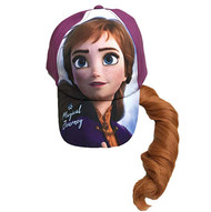 Baseball Cap Disney Frozen 2 Anna w/Hair Magical Journey Purple 410343
