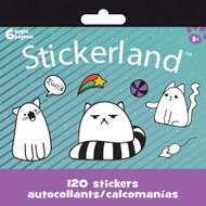 Mini Stickerland Pad 6 page Cool Kitties st2379
