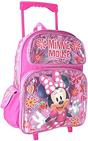 Large Roling Backpack Disney Minnei Mouse Shine Pink 002084
