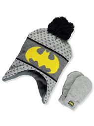 Beanie Cap DC Comics Batman Logo Gray w/Mittens 403604