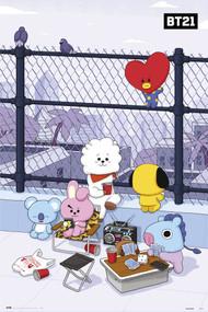 """Poster Studio B BT21 Rooftop 24""""x36"""" Wall Art r85359"""