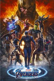 """Poster Studio B Avengers Endgame Fire 23""""x35"""" Wall Art p5312"""