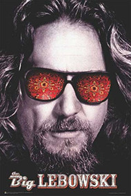 "Poster Studio B Big Lebowski Glasses 23""x35"" Wall Art p0837"