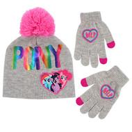 Beanie Cap My Little Pony Gray w/Glove Set 358539-2