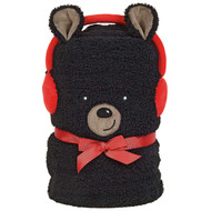 "Blanket Black Bear Snowthrow Fleece 60"" x 45"" 6004409"