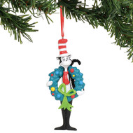 Ornament Dr. Seuss Cat in The Hat w/Wreath 6011077