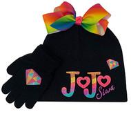 Beanie Cap JoJo Siwa Black Rainbow Logo 916558-2