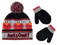 Beanie Cap Sesame Street Elmo Gray/Black 403888